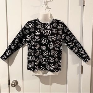 ZARA GIRLS black halloween long sleeve shirt